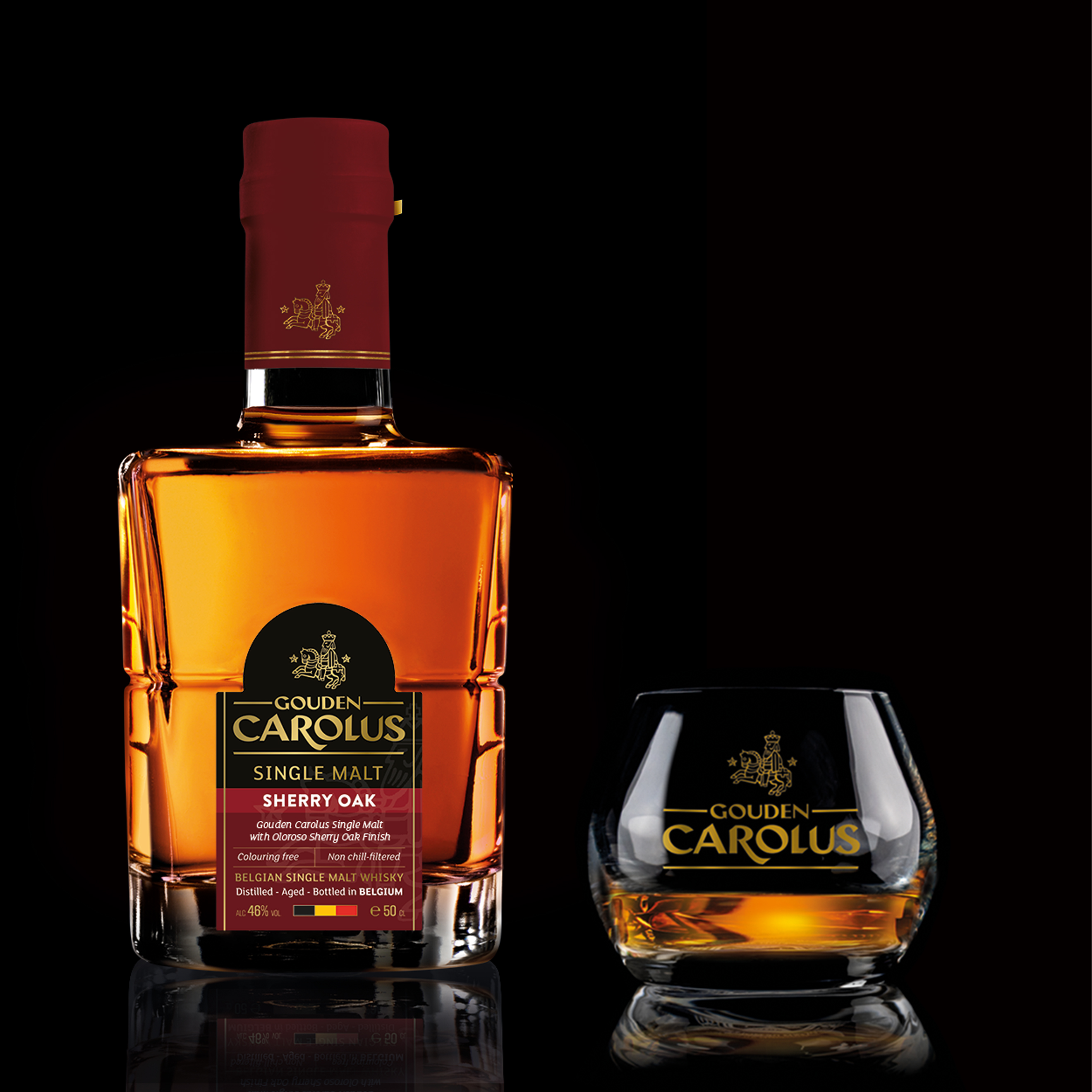 Gouden Carolus Single Malt Sherry Oak met glas