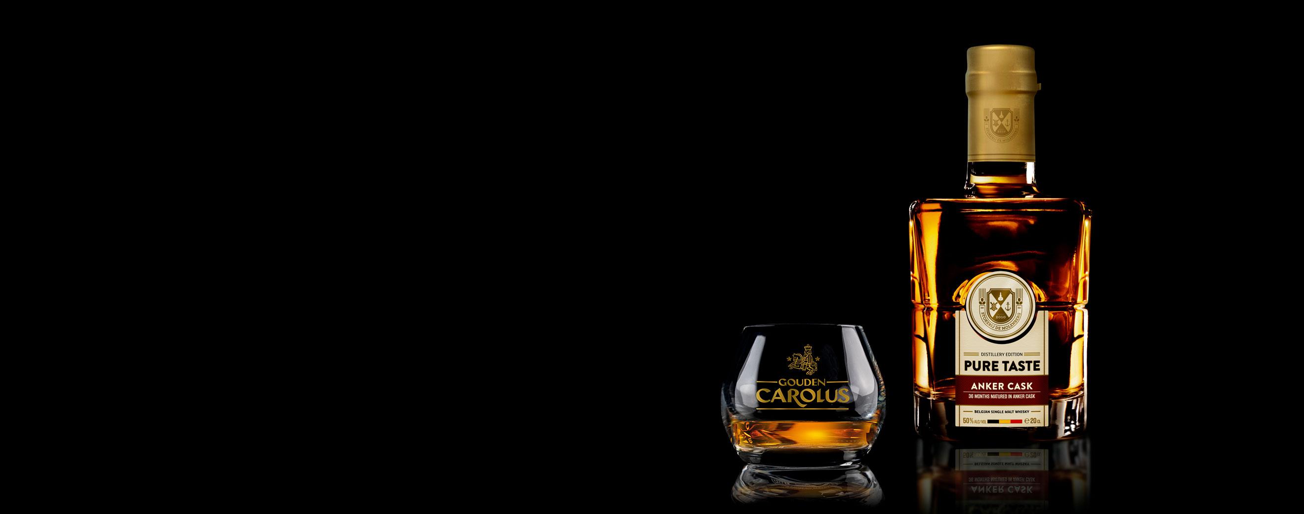 Pure Taste - Anker Cask Whisky Stokerij De Molenberg met glas