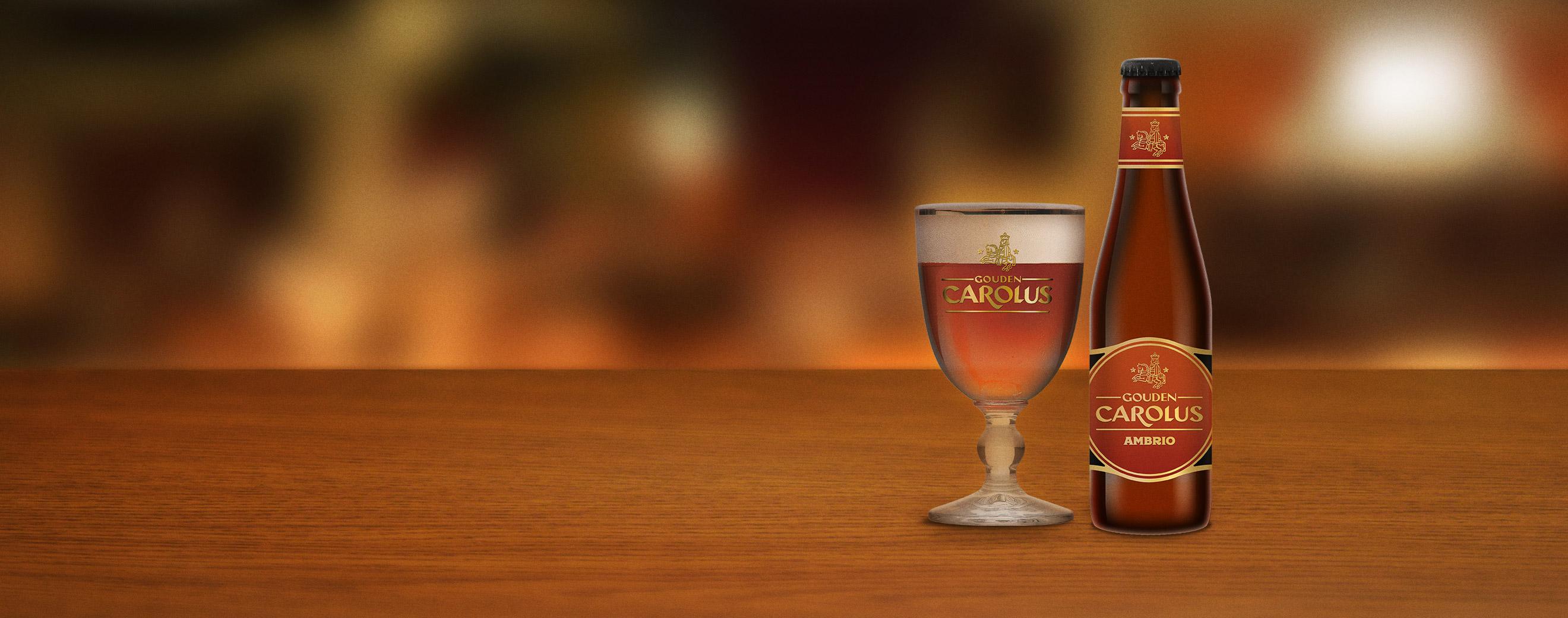 Gouden Carolus Ambrio met glas