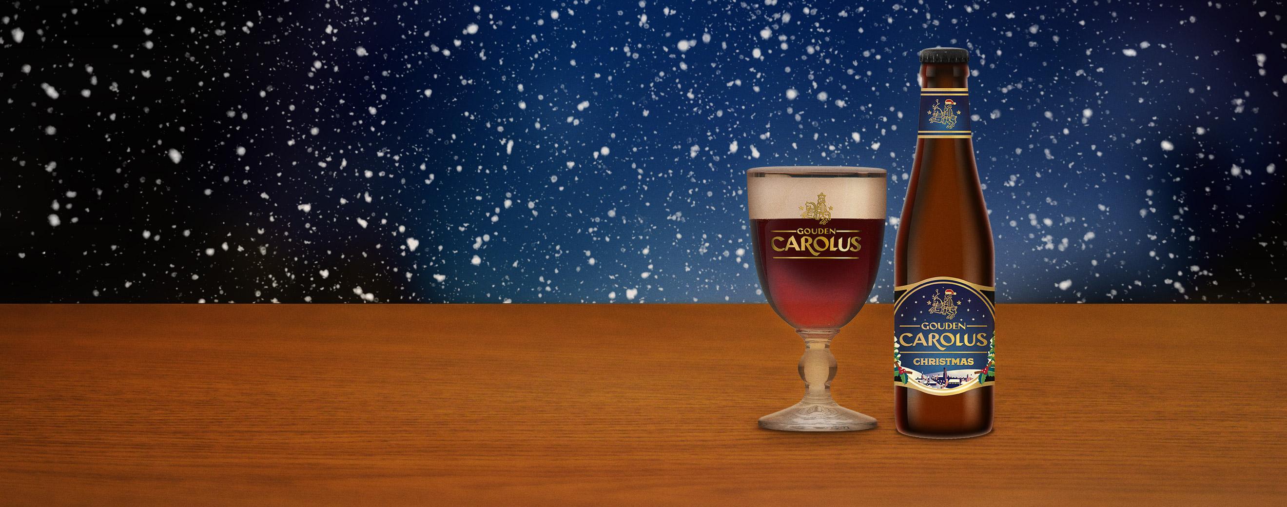 Gouden Carolus Christmas met glas