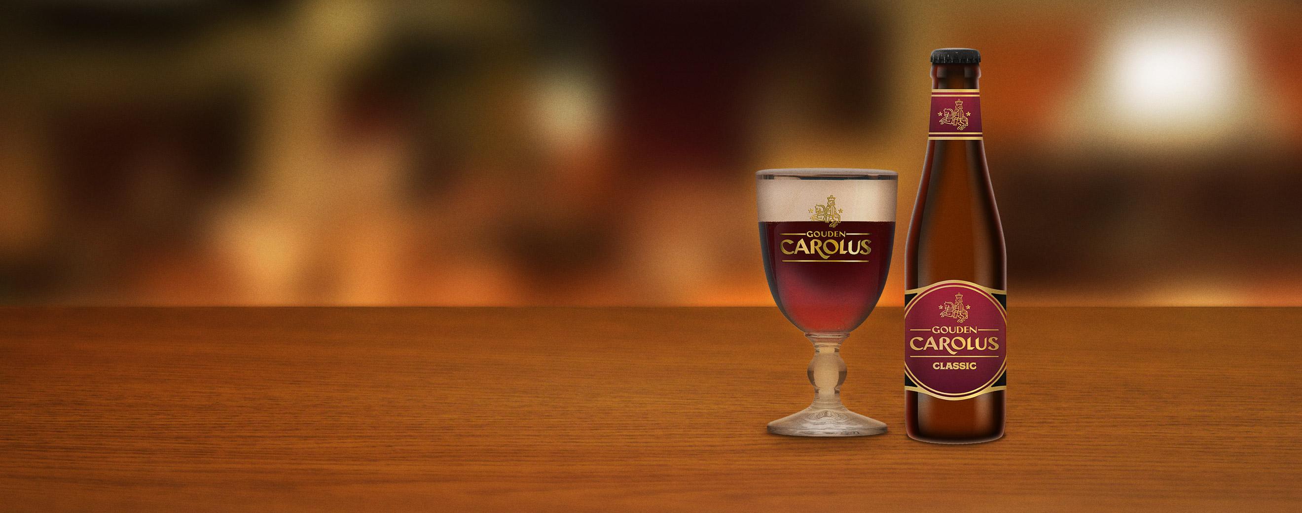 Gouden Carolus Classic met glas