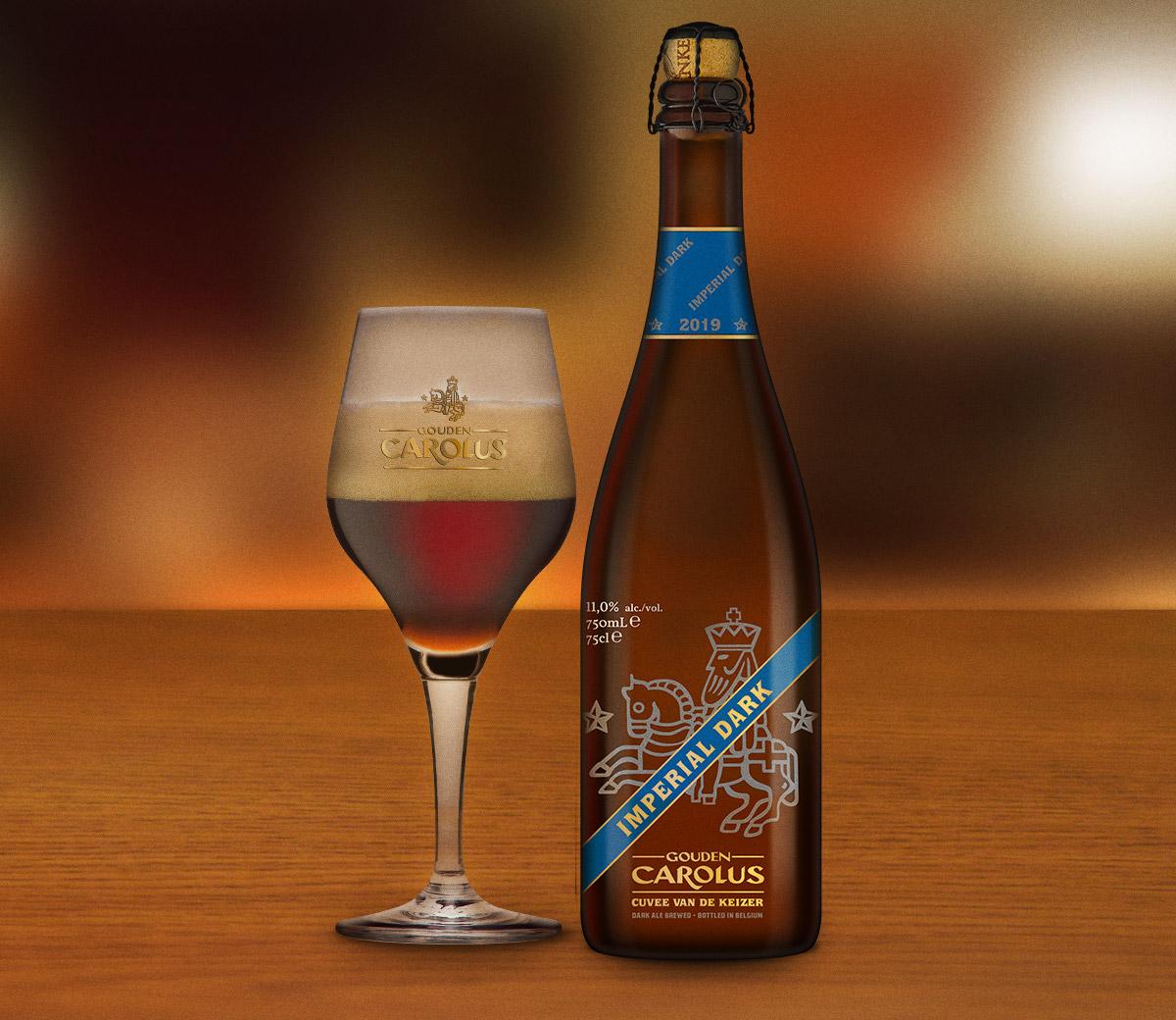Gouden Carolus Cuvée van de Keizer Imperial Dark met glas