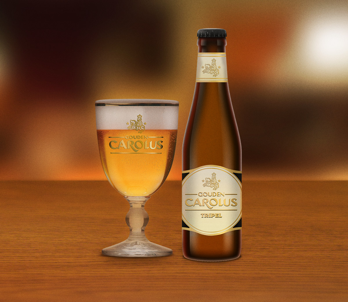 Gouden Carolus Tripel met glas