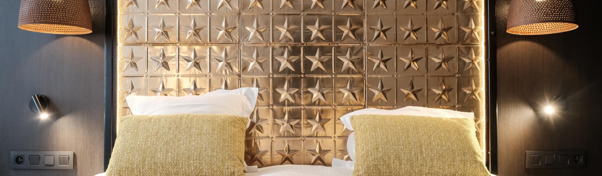 Bedhoofd Double Room - Hotel Het Anker