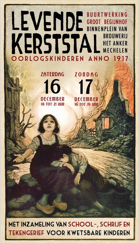 Levende Kerststal in Groot Begijnhof te Mechelen